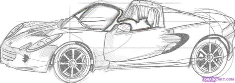how to draw a sports car step by step how to draw a lotus elise step by step cars draw cars