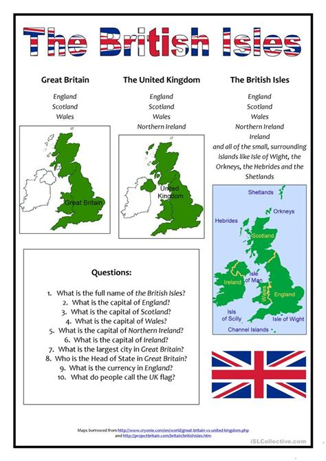printable english worksheets uk the british isles worksheet free esl printable