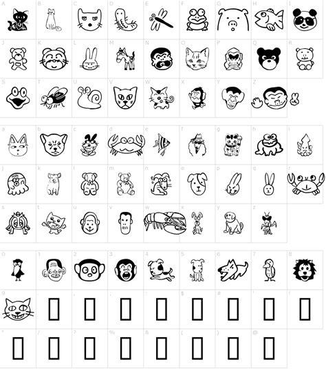 Animal Character 01 sakabe animal 01 font