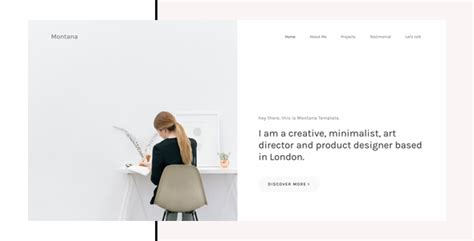 themeforest split licence montana minimal portfolio html template by khaitawngkhai