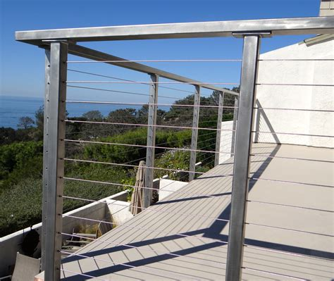 Stainless Steel Deck Railing Stainless Steel Deck Railing Posts Bare San Diego