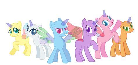 my little pony mane 6 base 3 ponies bases on mlp bases deviantart