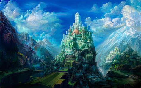 wallpaper alam fantasi love wallpaper gambar pemandangan fantasi digital yang