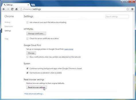 chrome settings reset google chrome to default settings guide