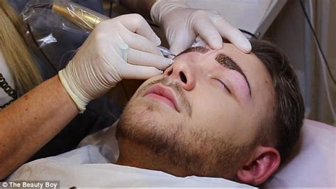 Boys With Permanent Makeup | can a man pull off permanent eyebrows vlogger jake jamie