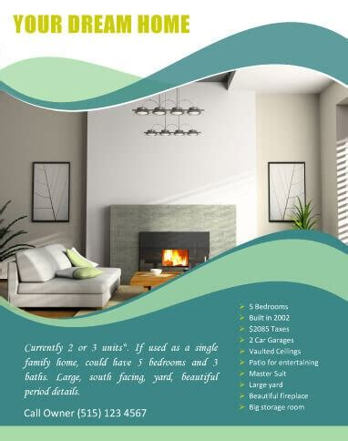 free home design sles 14 free flyers for real estate sell rent