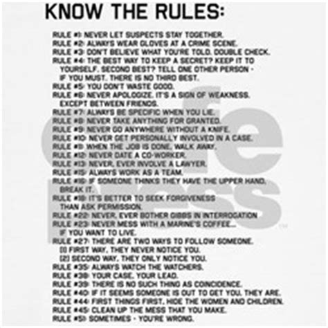 gibbs rules complete list ncis gibbs rules gifts merchandise ncis gibbs rules
