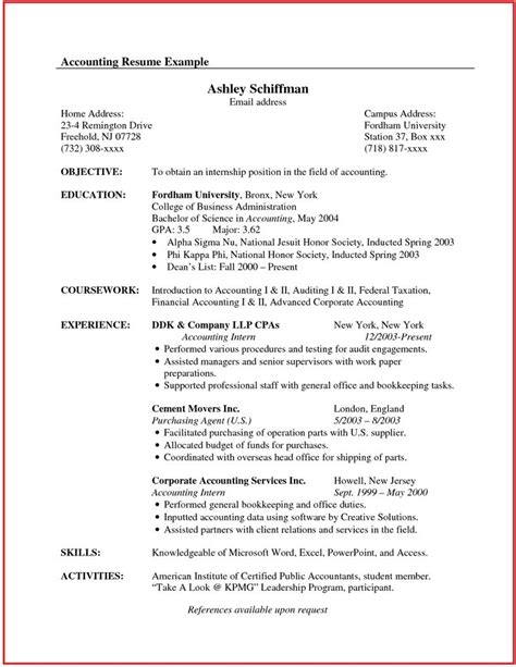 resume sle in canada resume format in canada 28 images accountant resume