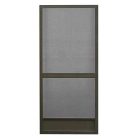 Home Depot Door Screens by Screen Tight 36 In X 80 In Floridian Aluminum Bronze