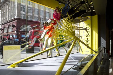 color wheel for visual merchandising the window lane neon architects riba colour mannequin wheel installation