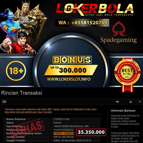 bukti kemenangan slot spade gaming  november