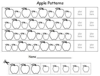 apple pattern for kindergarten apple math patterns math patterns math and worksheets