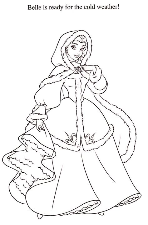 belle christmas coloring pages disney coloring pages belle pinterest
