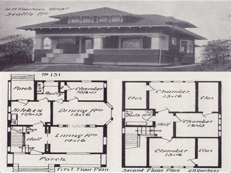 Vintage Craftsman House Plans vintage craftsman bungalow house plans california
