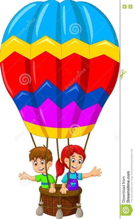clipart divertenti volo divertente fumetto di due bambini in una