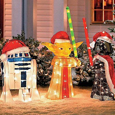 Wars Decorations Outdoor Tinsel Wars Characters With Gift Outdoor
