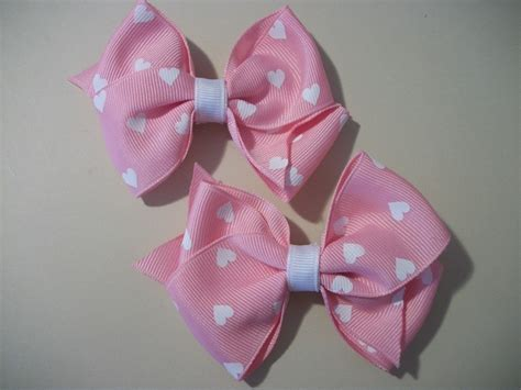 valentines day bow baby toddler hair bow set pink valentines day hearts galore