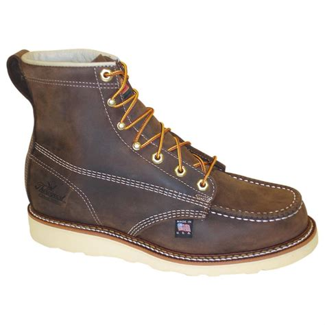 toe boots mens s thorogood 174 6 quot moc toe wedge boots 202484 work