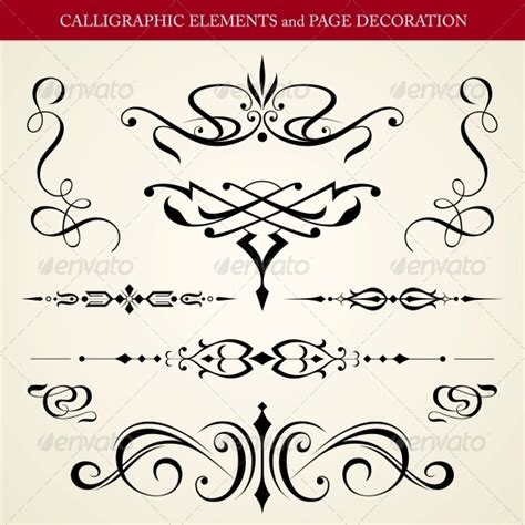 Calligraphy Decorations by Stock Vector Graphicriver Calligraphic Elements And Page
