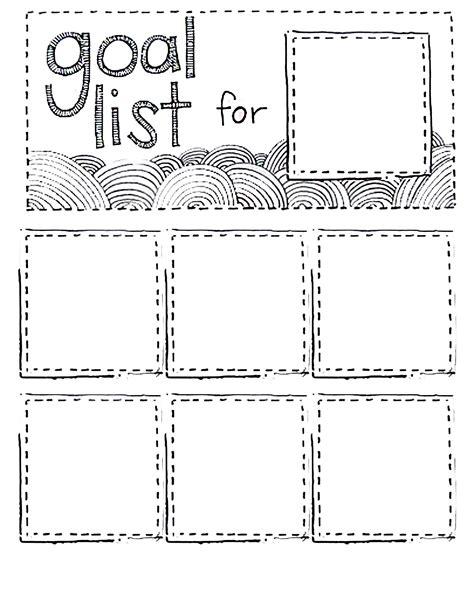 Printable Goal List Using Post It Do Diy Pinterest Goal List Template