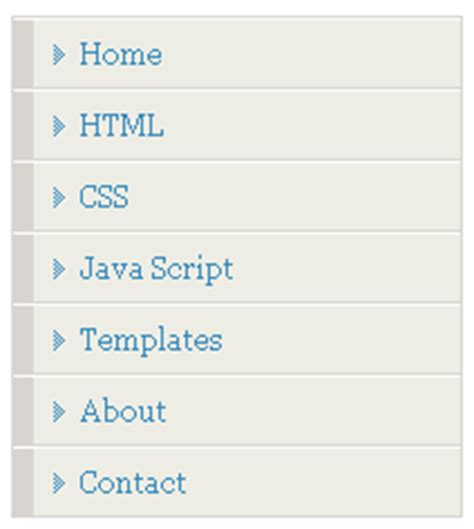 tutorial css menu vertical css vertical menu tutorials menu 2 blogger tips and tricks