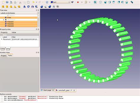 tutorial video freecad freecad tutorial engine 5 camshaft gear