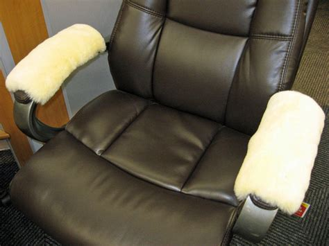 medical ivory merino sheepskin armrest covers pad scooter office wheel chair arm ebay
