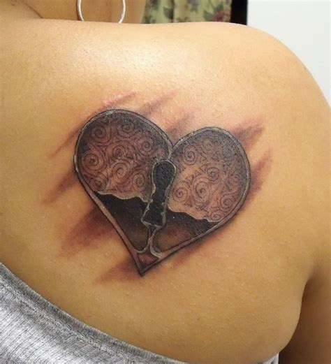 locked heart tattoo designs lock design busbones