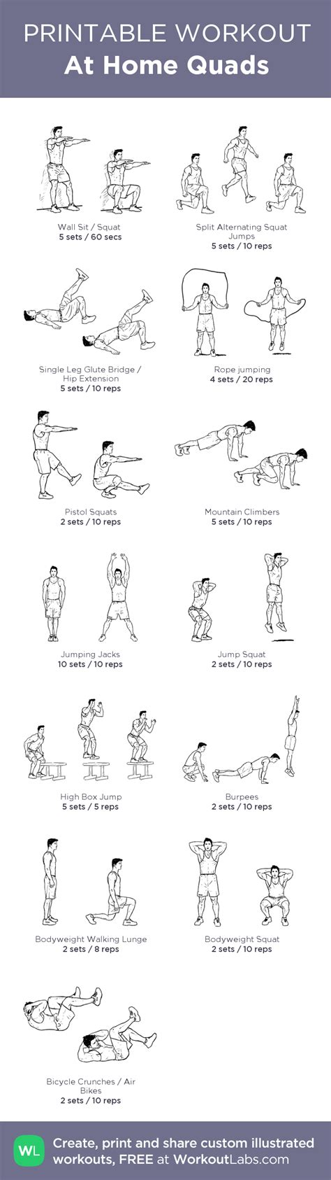 at home quads workout workout exercises