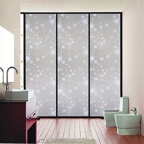 privacy sticker for bathroom window 45x200cm waterproof frosted privacy bedroom bathroom
