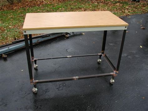 Angle Iron Bed Frame How To Build A Workbench Cart From Bed Frame Angle Iron Make