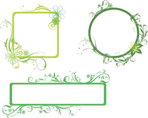 eps format borders fresh green borders free vector in adobe illustrator ai