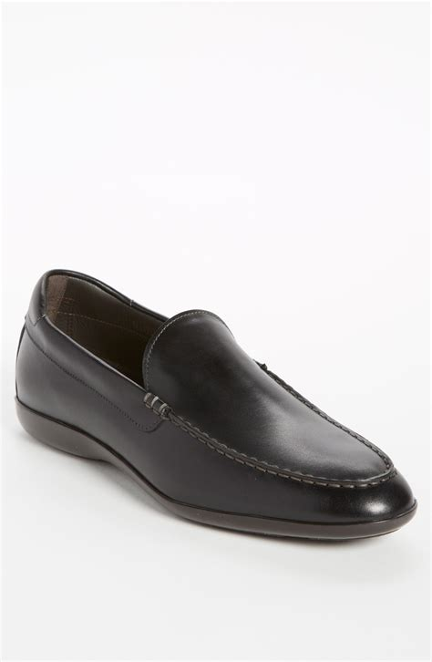 santoni loafers sale santoni tatum loafer in black for lyst