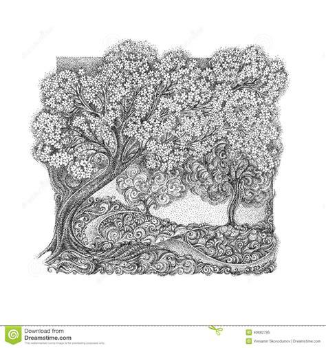 das konzept des bildes choices der kirschbaum stock illustrationen vektors klipart