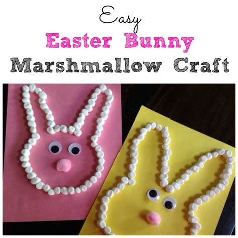 marshmallow crafts easy easter bunny marshmallow craft