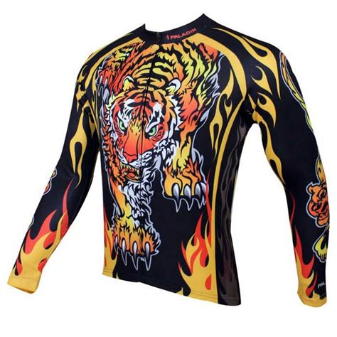 pattern bike jersey paladinsport men s tiger pattern cycling jersey black