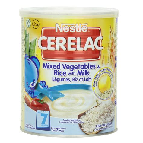 Cerelac Nestle nestle cerelac mixed vegetables and rice with milk 400g