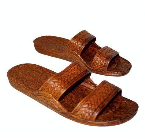 jesus slippers brown rubber hawaiian jesus sandals pali hawaii classics