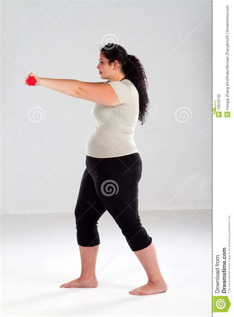 picture of heavy set women in a two piece bathing suit overweight woman working out stock photography image