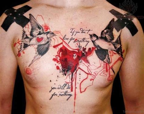 bird tattoos on chest 50 fabulous birds tattoos on chest