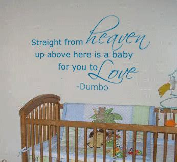 Disney Wall Decals For Nursery Items Similar To From Heaven Walt Disney Dumbo Nursery Quote Wall Vinyl Decal