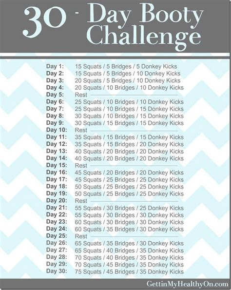 30 day challenge workouts workout and 30th