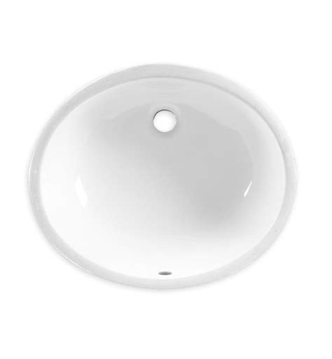 17 inch bathroom sink american standard 0496300 020 ovalyn 17 inch undermount