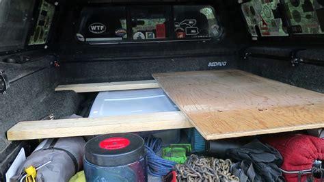 truck camping   built  platform bed super easy