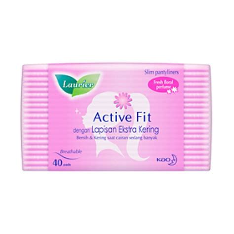 laurier pantyliner active fit parfum 40 s elevenia