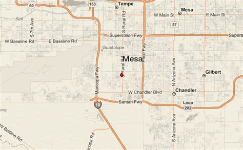 mesa arizona usa map mesa location guide