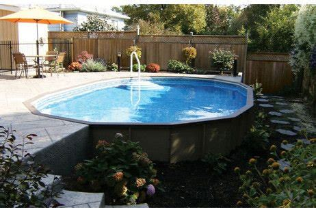ultimate    oval pool kit synthetic wood coping