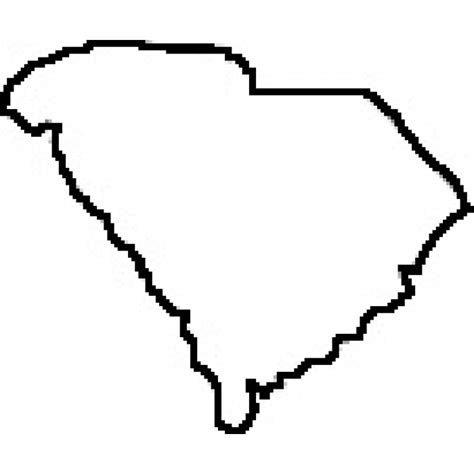 South Carolina Map Outline by State Of South Carolina Outline Map Rubber St