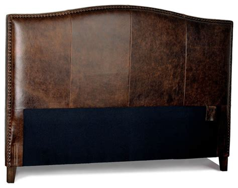 Leather And Wood Headboard by Antique Brown Leather Headboard For Bed With Distressed