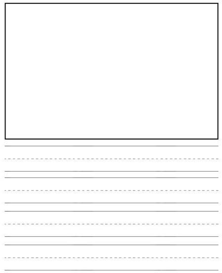 printable lined story paper free best photos of blank writing paper for kindergarten free